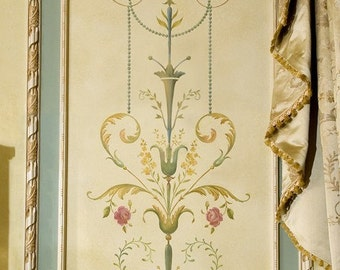 Wall stencil Marie-Antoinette Side Panel SM - Classical stencil with amazing detail - Elegant French Decor Stencils for Painting Walls