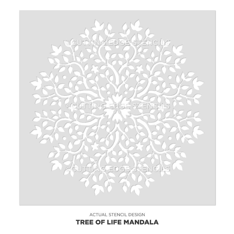 Mandala Stencil Tree of Life - DIY Stencil for Home Improvement - Mandala  Stencils For Wall Art - Better Than Decals