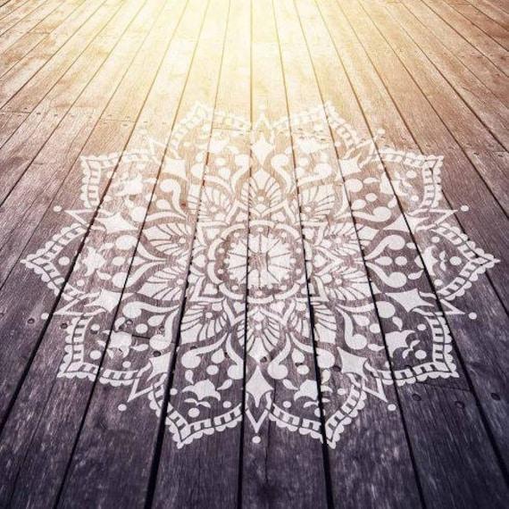 Mandala De La Plantilla Pasión Mandala Plantillas Para Etsy