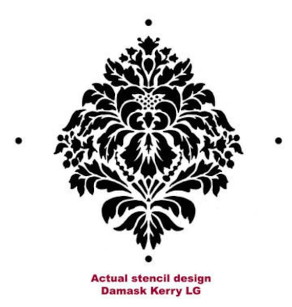 Kerry Damask Wall Stencil LARGE Easy Reusable Stencils for DIY Wall Decor