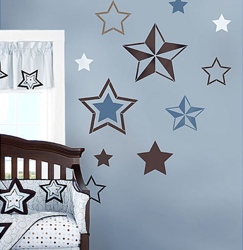 7 Stars Stencil Kit Wall Art Nursery Stencil Kids Room | Etsy