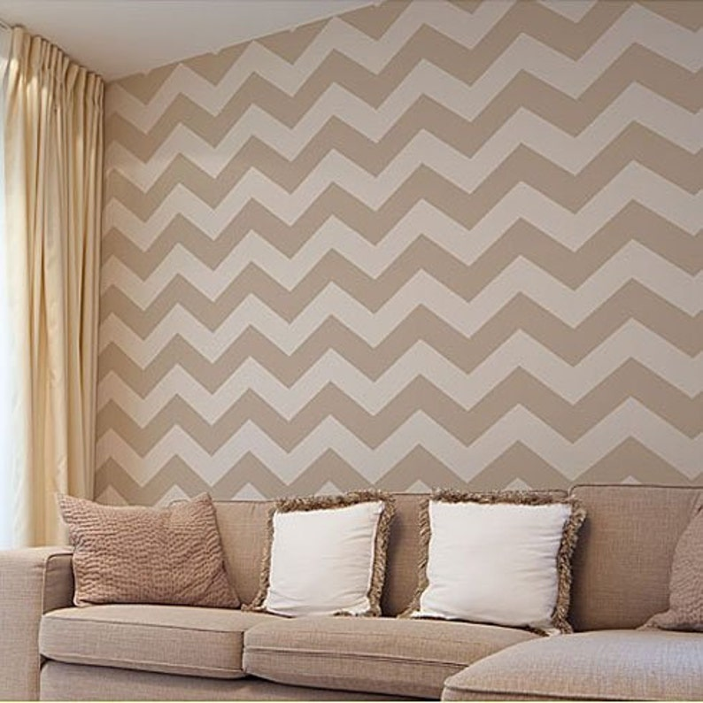 Chevron Stencil LG  Large Stencil for Painting  Reusable image 0
