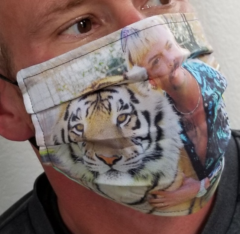 Tiger King Fabric Cotton Face Mask Washable Non-Medical image 1