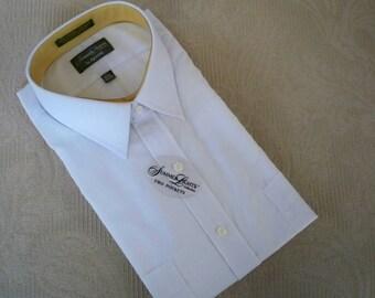 Vintage Clothing NOS Men's White Dress Shirt Short Sleeve Arrow Summer Men's Shirt