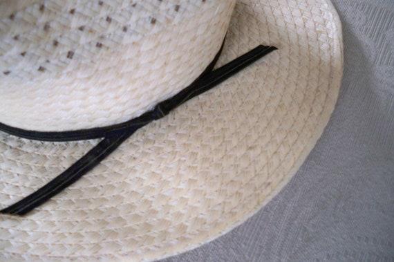 Vintage Straw Men's Hat Straw Summer Hat - image 2