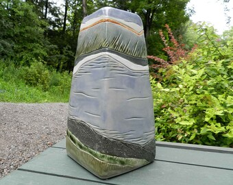 Peaceful River XL Stoneware Urn