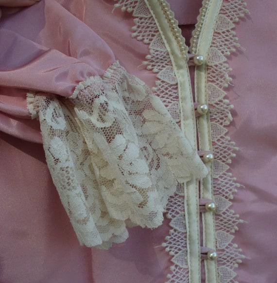 Gunne Sax Dress  Pink Taffeta and Lace - image 7
