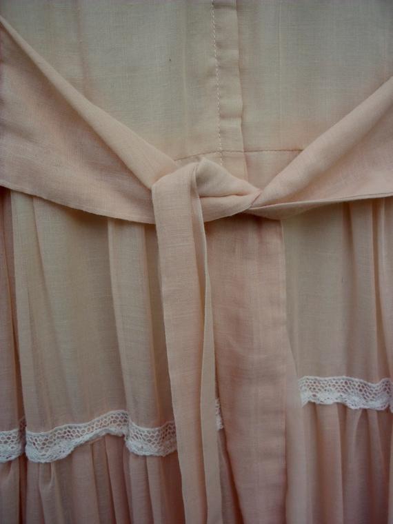Gunne Sax Dress in Pale Peach Size 13 - image 4