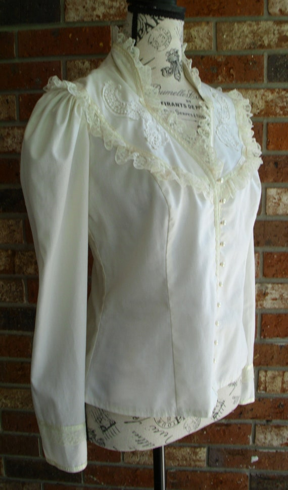 Gunne Sax Blouse 'Lace and Ribbon on the Prairie' - image 2