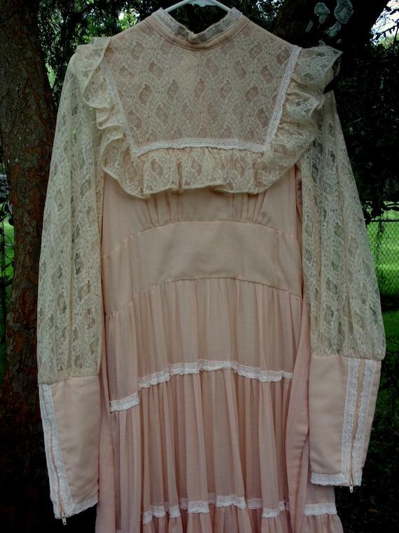 Gunne Sax Dress in Pale Peach Size 13