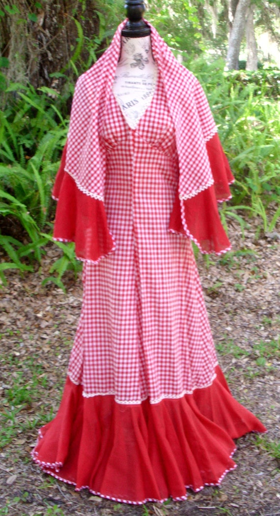 Red Gingham Dress  by Arpeja 'Country Comfort' Siz