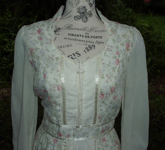 Gunne Sax Dress Romance/Prairie Style 'Sweet Calic