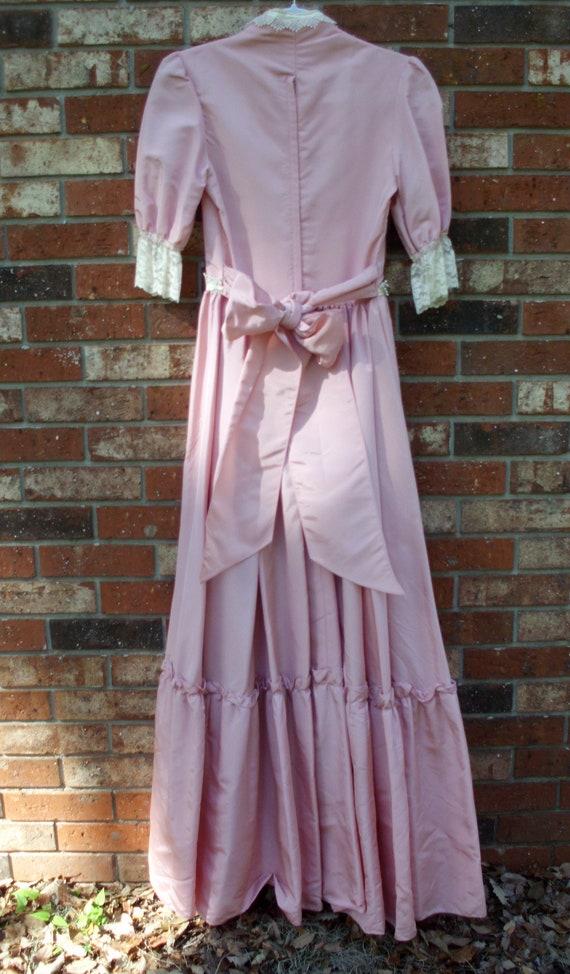 Gunne Sax Dress  Pink Taffeta and Lace - image 3