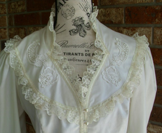 Gunne Sax Blouse 'Lace and Ribbon on the Prairie' - image 9