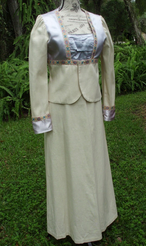 "Black Label Gunne Sax Dress 'Walking Suit"" Size 13"