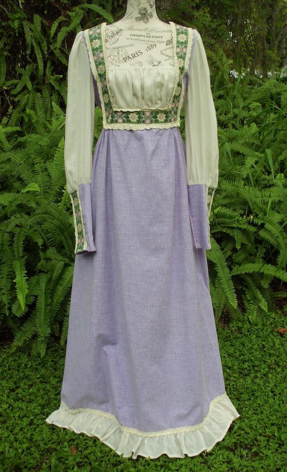 Reserved***Gunne Sax Black Label Dress Ren Style … - image 3
