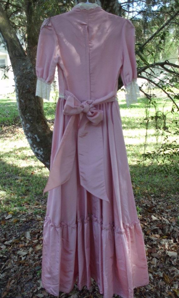 Gunne Sax Dress  Pink Taffeta and Lace - image 8