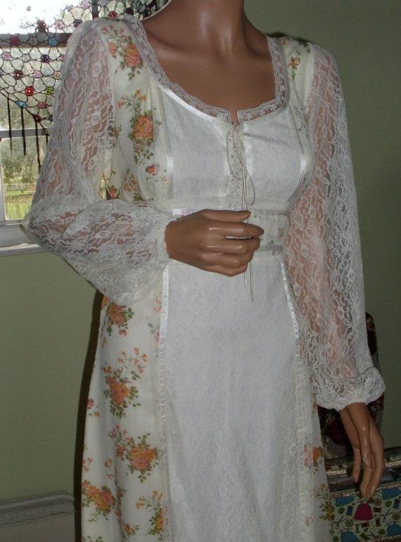 Vintage Gunne Sax Style Gown Department Store Bra… - image 5
