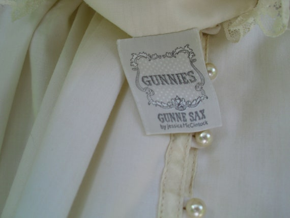 Gunne Sax Blouse 'Lace and Ribbon on the Prairie' - image 10