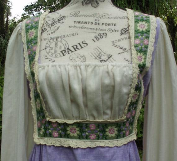 Reserved***Gunne Sax Black Label Dress Ren Style … - image 8