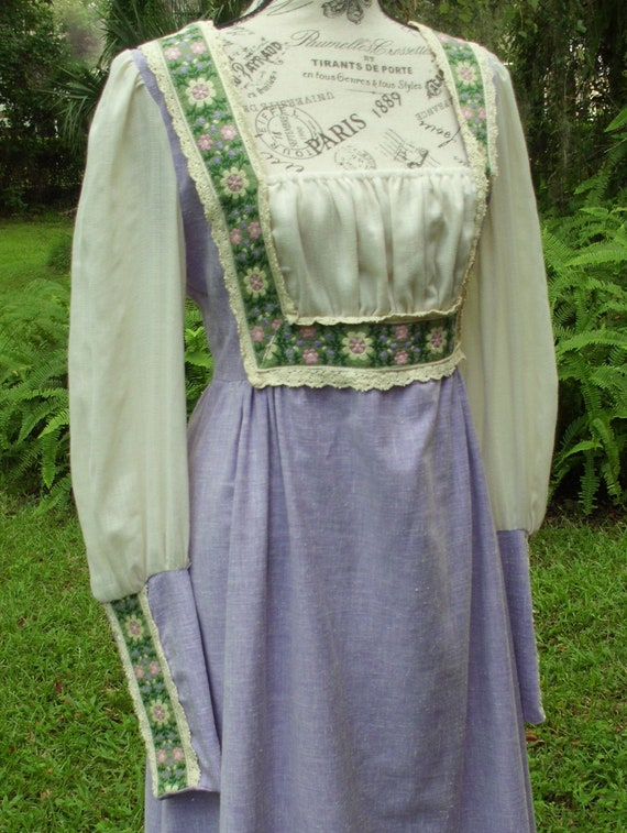Reserved***Gunne Sax Black Label Dress Ren Style … - image 2