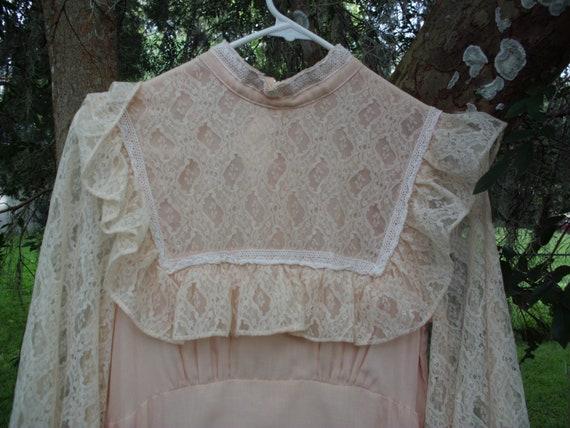Gunne Sax Dress in Pale Peach Size 13 - image 9