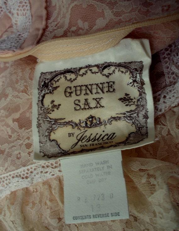 Gunne Sax Dress in Pale Peach Size 13 - image 10
