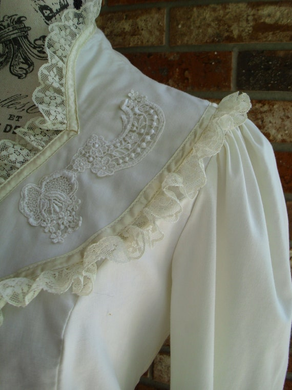 Gunne Sax Blouse 'Lace and Ribbon on the Prairie' - image 1