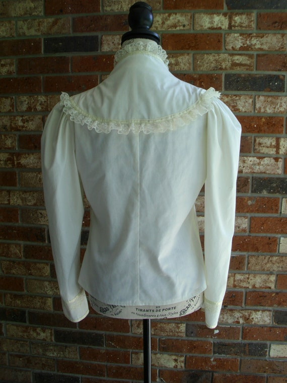 Gunne Sax Blouse 'Lace and Ribbon on the Prairie' - image 8