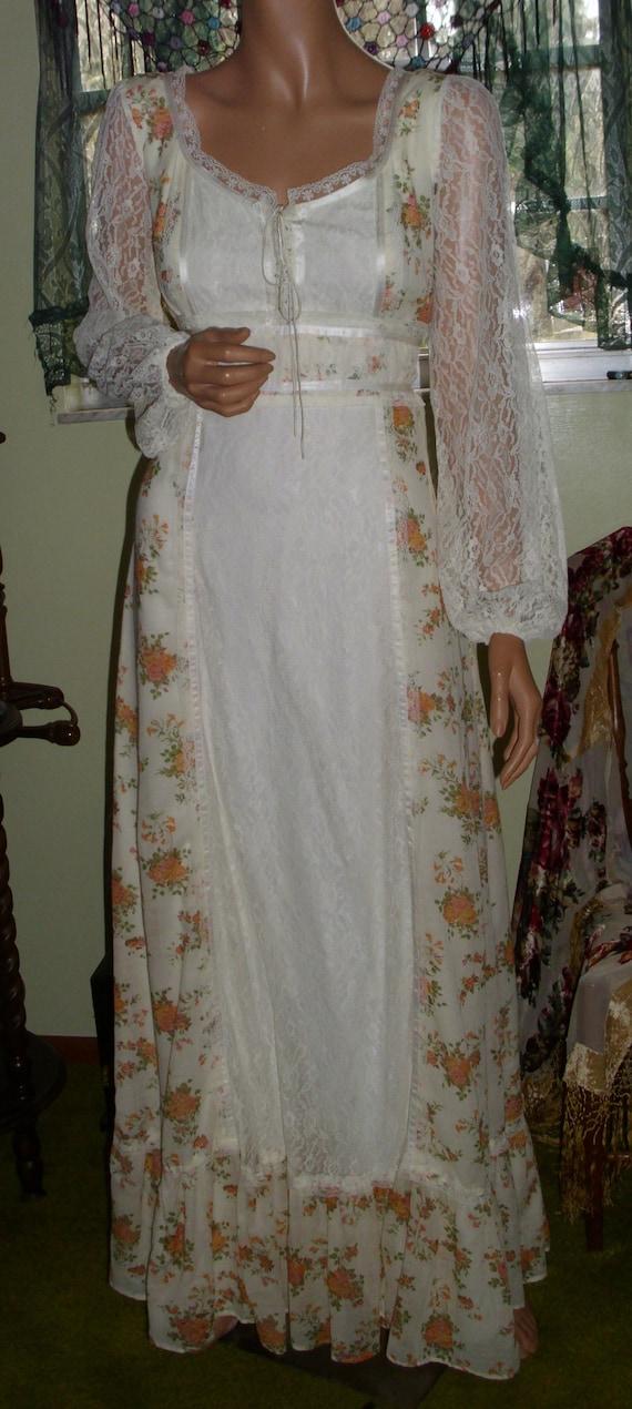 Vintage Gunne Sax Style Gown Department Store Bra… - image 9