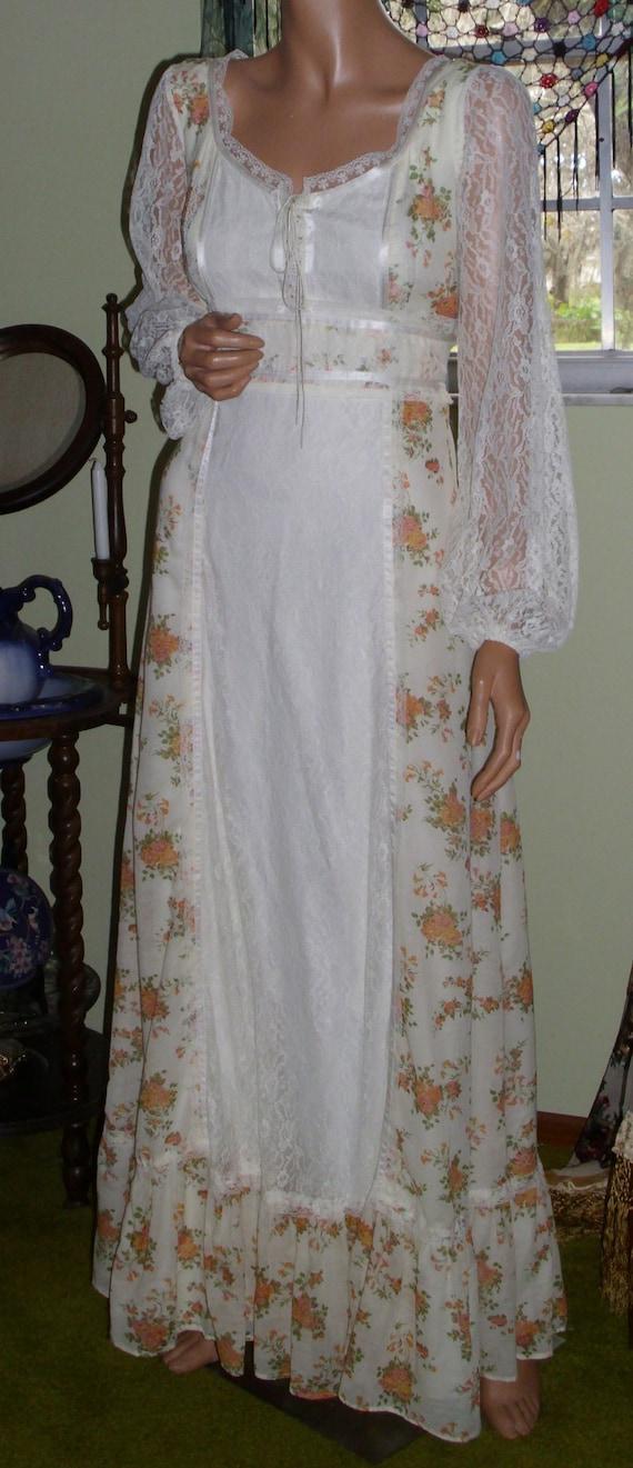 Vintage Gunne Sax Style Gown Department Store Bra… - image 3