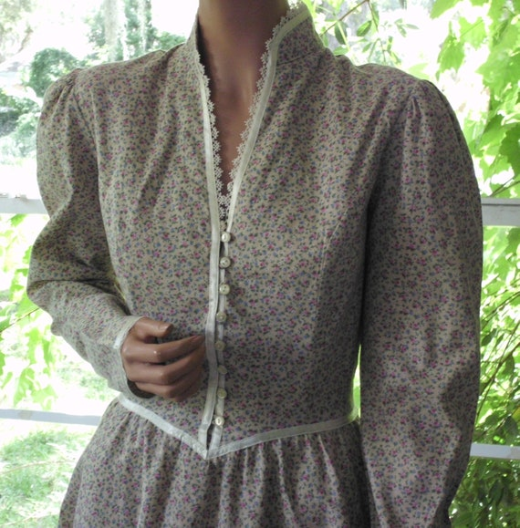 "Gunne Sax Dress ""Grace in Calico"" Vintage Large"