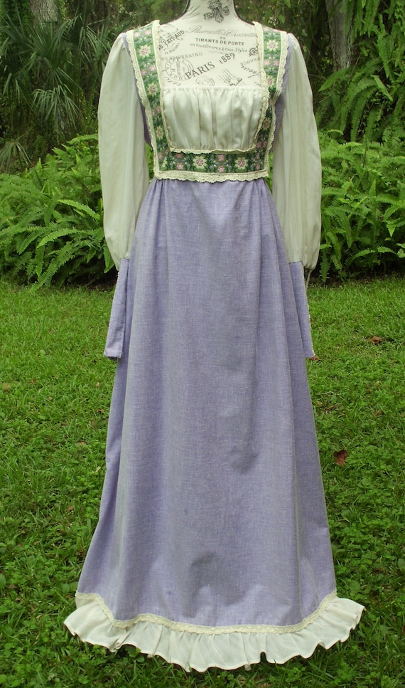 Reserved***Gunne Sax Black Label Dress Ren Style … - image 5