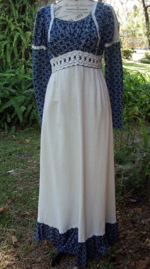Gunne Sax Dress Black Label/White Label Dress in t