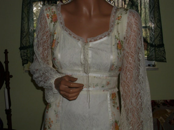 Vintage Gunne Sax Style Gown Department Store Bra… - image 1
