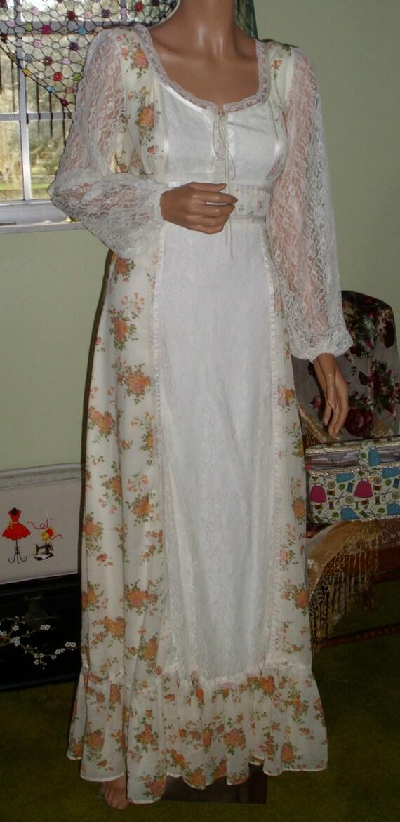 Vintage Gunne Sax Style Gown Department Store Bra… - image 7