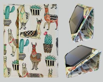 iPad Cover Hardcover, iPad Case, iPad Mini Cover, iPad Mini Case, iPad Air Case, iPad Pro Case, iPad 2, iPad 3, iPad 4 Llama Cactus