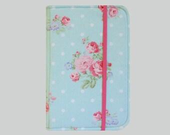 Kindle Cover Hardcover, Kindle Case, eReader, Kobo, Kindle Voyage, Kindle Fire HD 6 7, Kindle Paperwhite, Nook GlowLight Pink Roses