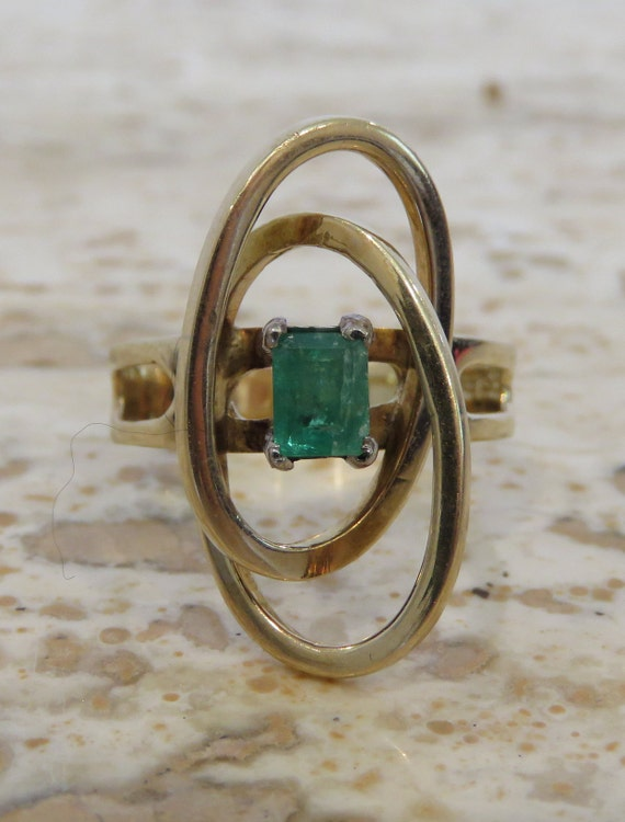 Space Age Design Emerald ring Space Age Design orb