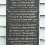 Rudyard Kipling If Poem Man Boy Son Grandson Father Grandfather Carved Wooden Sign Wall Art - 16x30 Distressed Rustic Carved Wood Sign