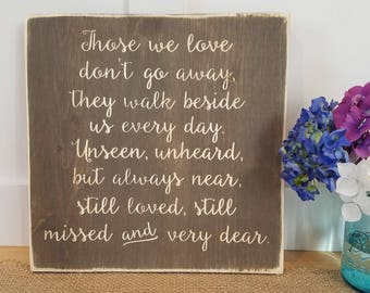 Rustic Wedding Memorial Tribute to Loved Ones Sign - 12x12 Farmhouse Wedding Carved Wooden Sign