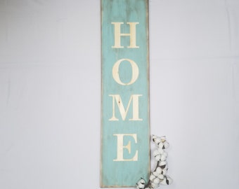 Wooden HOME Sign  | 10x36 Carved Engraved Wood Entry Porch Sign | Farmhouse Front Porch Sign