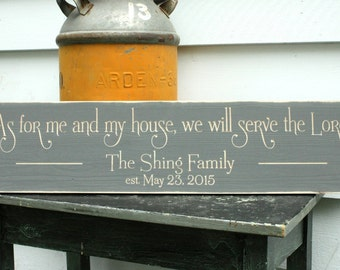 8x30 As for Me and My House We Will Serve The Lord