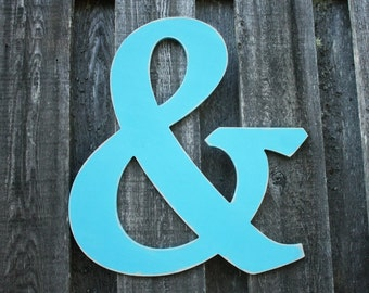 "18"" Wooden Ampersand &  