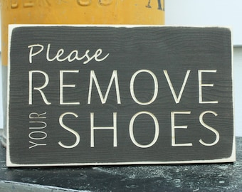 Please Remove Your Shoes  | Entry Sign Housewarming Gift | 8x12 Carved Farmhouse Sign