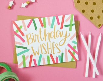 Friend birthday card etsy birthday wishes happy birthday birthday candles make a wish celebrate birthday card stationery greeting card friend birthday card m4hsunfo