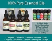 Pure Essential Oils, Essential Oil Set, Essential Oil Samples Lavender Peppermint Eucalyptus Lemongrass Tea Tree Oil Orange Citronella