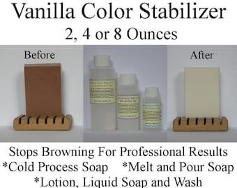 Vanilla Essential Oil - Vanilla Fragrance Oil - Color Stabilizer - 2, 4 or 8 Oz - Vanilla Color Neutralizer - No More Brown Vanilla