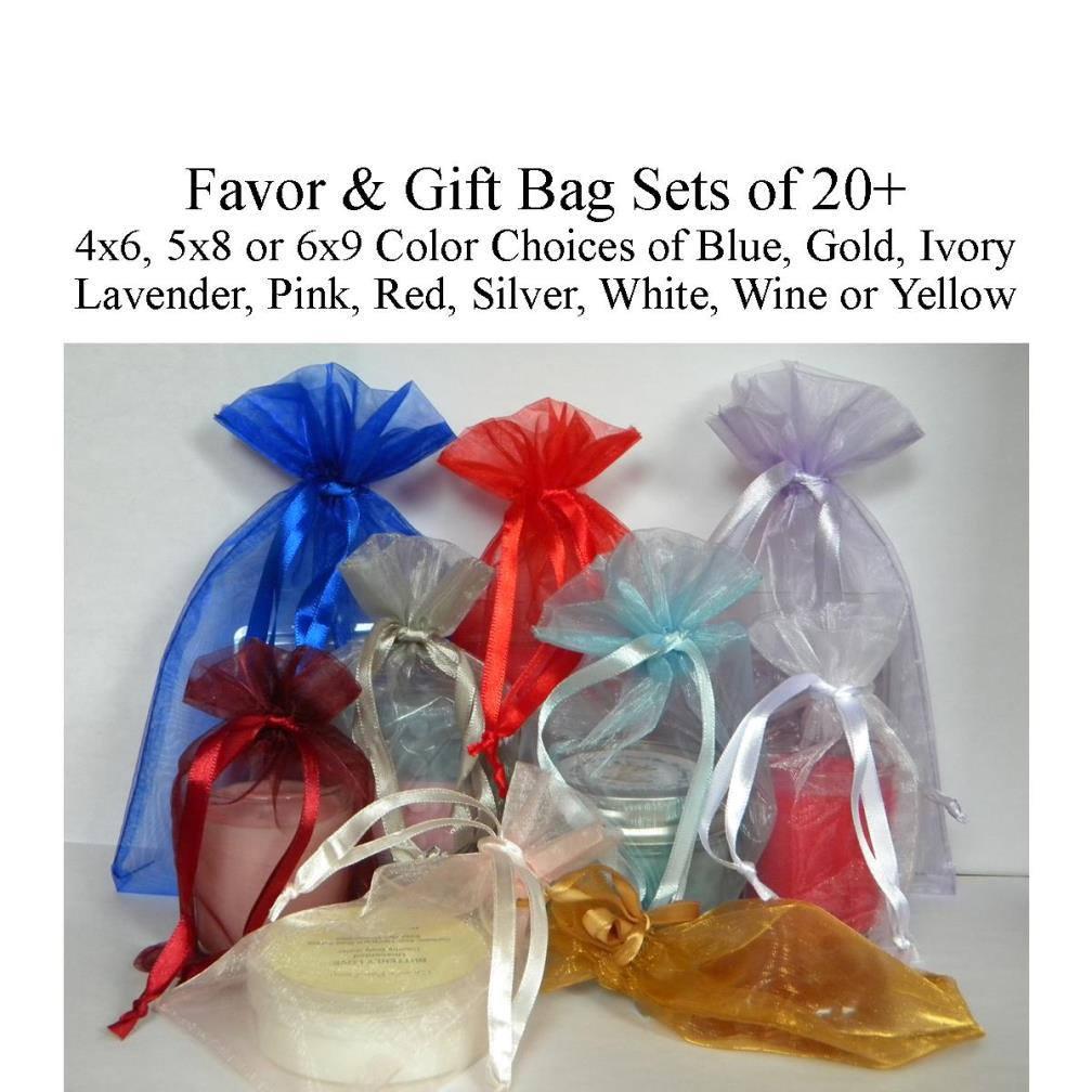 Favor Bags 4x6 5x8 5x7 6x9 Gift Bags Organza Bags Wedding Favor