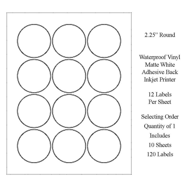 Blank Label Sheets Free Shipping Waterproof Labels, Vinyl Labels, Jar  Labels, Lip Balm Labels, Candle Labels, Round Labels